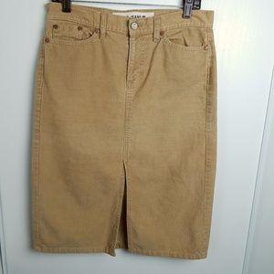 Vintage 90s Gap Corduroy Skirt